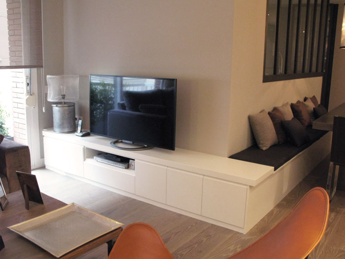 Salon tv mueble de salon para tv mueble salon televisor - Mueble salon blanco ...